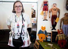 """Voici les """"tatooed dolls"""" de Mimi Kirchner. Depuis des années, cette artiste américaine collectionne les tissus et en fait des poupées. J'..."""