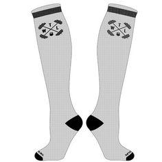 TWL High Performance - Hi-Top Socks - White & Black - $14.95