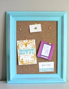corkboard frame tutorial