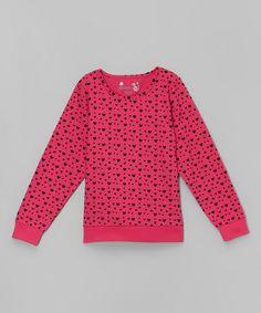 Look at this #zulilyfind! Vivid Pink Heart Top - Toddler & Girls by Dreamstar #zulilyfinds