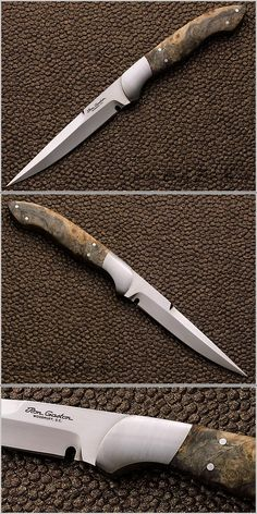 Ron Gaston, Fighter with Slender Blade and Stabilized Wood Scales, sleek and stylish