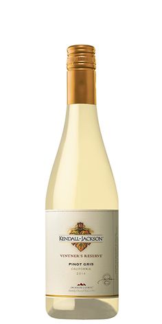 KENDALL-JACKSON VINTNER'S RESERVE PINOT GRIS: This Pinot Gris contains ripe citrus flavors with rich aromas of tropical mango, melon, and juicy peach. The bright fruit flavors and layered texture contribute to this wine's versatility. Food Pairings: Anything barbequed, smoked fish, fruit salads, broiled or fried chicken, prosciutto-wrapped asparagus, salty ham and charcuterie