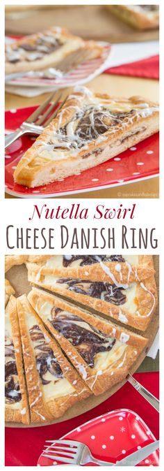 Nutella Swirl Cheese Danish Ring - a simple but special holiday recipe perfect for breakfast, brunch, or dessert. @Pillsbury Crescent Rolls make it easy! | cupcakesandkalechips.com | #Pillsbury #Safeway #ad