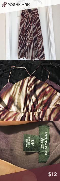 Ann Taylor Dress Ann Taylor flowy dress, size 6P.  Empire waist and spaghetti straps.  Fully lined. Ann Taylor Dresses
