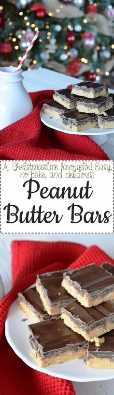 Peanut Butter Bars - Lord Byron's Kitchen