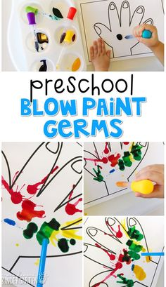 This blow paint germs craft incorporates lots of fine motor skills practice. Great for tot school, preschool, or even kindergarten!