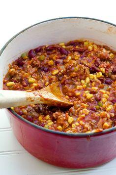 2. Turkey Taco Chili #crockpot #dinner #recipes http://greatist.com/eat/time-saving-crock-pot-recipes