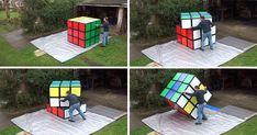 This Man Has Built The World's Largest Working Rubik's Cube  Anything is possible in design.  Doyledickersonterrazzo.com