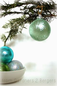 Homemade Glitter Covered Ornaments