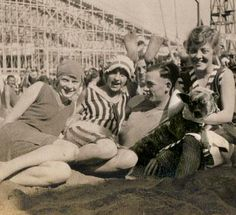 At the Beach. This happy shot was probably taken in the 1920's.