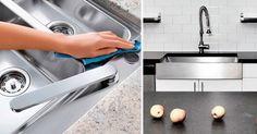 ventajas fregaderos acero inoxidable Sink, Home Decor, Stainless Steel Sinks, Kitchens, Wood, Sink Tops, Vessel Sink, Decoration Home, Room Decor