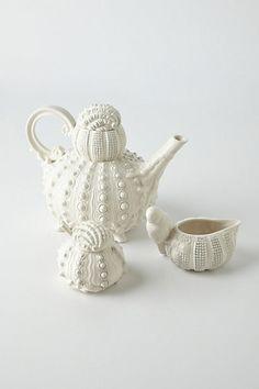 Loving this beachy look - dreaming of hot, sandy summer days - Sealife Tea Set #anthropologie