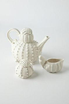 Loving this beachy look - dreaming of hot, sandy summer days - Sealife Tea Set #anthropologie