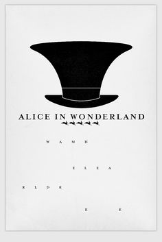 Alice in Wonderland #minimalistposter l James Random