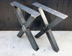Industrial X Shape Metal Table legs 3x3 by SteelImpression on Etsy