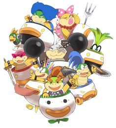 Even though all the koopalings have the same stats and stuff in ssb4, I only use Larry iggy and Lemmy