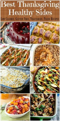 Recipes to make the best healthy and low calorie Thanksgiving side dishes. Covers stuffing, potatoes, rolls, green beans, vegetables and more. There is no reason not to enjoy healthy, low calorie T…