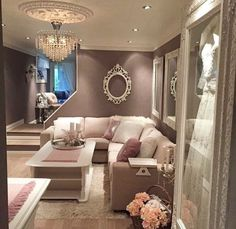 Like the color; classic added touch with the chandelier