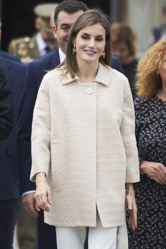 Queen Letizia Wears the Only Coat You'll Want and Need This Fall