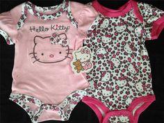 Baby+Girl+Clothes+:+Hello+Kitty+Pink+HELLO+KITTY+Leopard+Print+Girl+Baby+Onesies