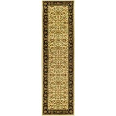 Lyndhurst Ivory/Black 2 ft. 3 in. x 6 ft. Runner