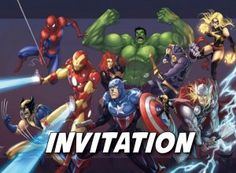 Invitation Super héros