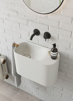 Rexa Design small basins: new concept of spaces – Badezimmer einrichtung Bathroom Inspo, Bathroom Styling, Bathroom Interior Design, Bathroom Inspiration, Bathroom Ideas, Bathroom Designs, Bathroom Trends, Guys Bathroom, Bathroom Furniture Design