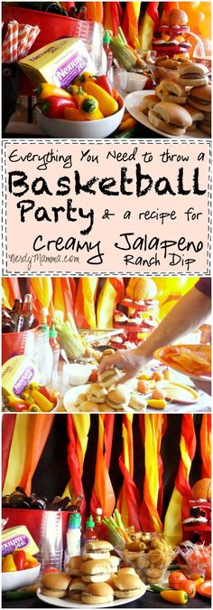 Need to throw a Basketball Party Don't worry--this tutorial has you covered! Everything You Need to Throw a Basketball Party--and a recipe for Creamy Jalapeno Ranch Dip. Mmmm... #ad #GameForBasketball #CollectiveBias