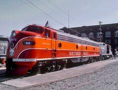 Southern Pacific Railroad, EMD E9(A) diesel-electric passenger-train locomotive in San Francisco, California, USA