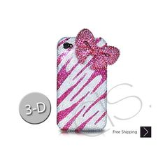 Elegant Ribbon 3D Bling Swarovski Crystal Phone Case - Pink is handcrafted which make this the most luxury and prestige product.  All crystals are 100% genuine Crystallized Swarovski Elements with fabulous quality.