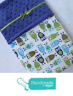 A Baby Blanket - Minky Baby Blanket - Owl Baby Blanket - Baby Blanket for Your Baby Boy from Sugar Doodle Boutique http://www.amazon.com/dp/B016CTU82C/ref=hnd_sw_r_pi_dp_KXsjwb1S6NKKX #handmadeatamazon