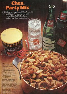 Chex Party Mix ad. 1970s. My mom made chex mix every year at Christmas.