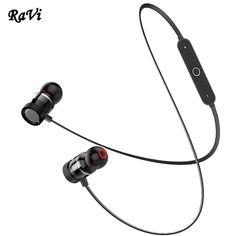 60870551060 Promo Offer RAVI Wireless Bluetooth Headphones Sport Earphone Super Bass  Headset With Mic Bluetooth Earpiece Headphone