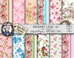 Shabby Chic Digital Paper: Roses Victorian by NanaVicsDigitals
