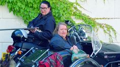 BBC News - TV cook Clarissa Dickson Wright dies. [Oh, how I love the Two Fat Ladies. I will think of them zooming through heaven on their motorbike and sidecar before making some delectable nosh for all the saints and angels.]