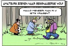 A3veen — #Wolf gespot bij Duits-Nederlands grens - Toos en Henk Cartoon van woensdag 16 april http://www.toosenhenk.nl/cartoon/2014-04-16/ #toosenhenk via @toosenhenktweet