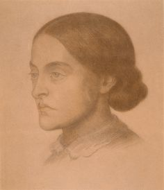 Drawing of Christina Rossetti by her brother Dante Gabriel Rossetti