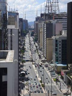 Sao Paulo  Office buildings on Paulista Avenue.