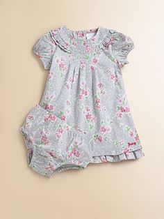 Juicy Couture Infant's Floral Two-Piece Dress & Bloomers Set
