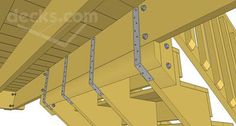deck stair design | Attaching to the top of a landing offers a similar situation in which ...