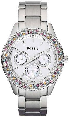 #Fossil #Watch , Fossil Stella ES3049 Stainless Steel Watch
