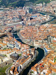 España a vista de pájaro - Spain: Bilbao Pais Basco
