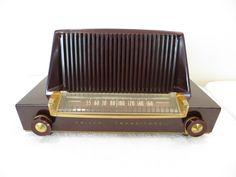 Vintage 1948 Philco Old Atomic Mid Century Bakelite Radio Modernistic Jetsons | eBay