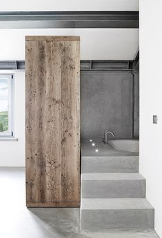 Check Out 41 Concrete Bathroom Design Ideas To Inspire You. Concrete is a super popular material due to its durability, modern look and budget-friendliness. Bathroom Design Inspiration, Bad Inspiration, Minimal Bathroom, Small Bathroom, Bathroom Ideas, Bathroom Storage, Bathroom Organization, Bathroom Designs, Bathroom Renovations