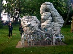 "Justin Matherly's piece, New Beaches, in NYC City Hall Park. Matherly graduated from PAFA and showed at Marginal Utility gallery. Public Art Fund's new exhibition, ""Common Ground,"" unveiled at City Hall Park - artnet Magazine"