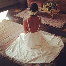 The back of Stone Fox Brides ' Farrah' gown has us speechless #loversland #bohobride #wedding #love #loverslandto
