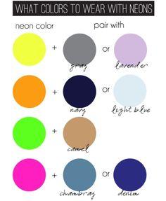 Look: sugestão para combinar Neon com outras cores.