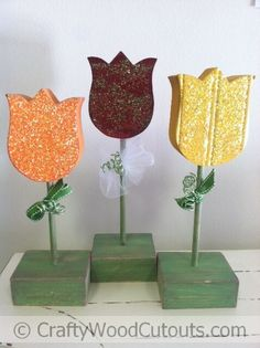 Standing Flower Wood Crafts