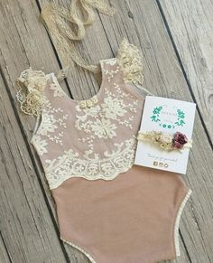 Dainty lovely baby girl onesie with pretty lace detail on top - - Stylish Baby Girls, Stylish Baby Clothes, Baby Kids Clothes, Baby Girl Romper, Baby Dress, Baby Kind, Baby Love, Baby Girl Fashion, Kids Fashion