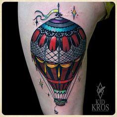 Cool hot air balloon, done by Kid Kros Casa Occulta, Split, Croatia